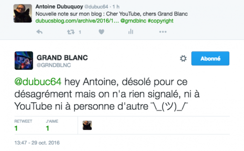 grand blanc,youtube,copyright
